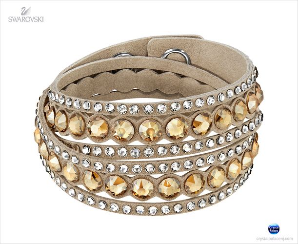 (SOLD OUT) Swarovski  Slake Beige Dot Bracelet