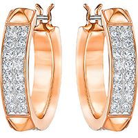 Fiction Hoop Pierced Earrings Rose Gold