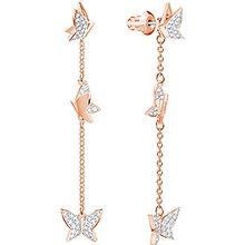 Lilia Pierced Earrings, Rose gold