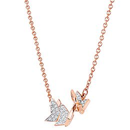 Lilia Necklace, Small, Rose gold