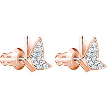 Lilia Fig Pierced Earrings, Rose gold