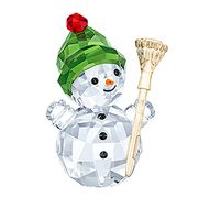 NEW Snowman with Broom Stick