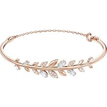 Mayfly Bangle, White, Rose gold plating
