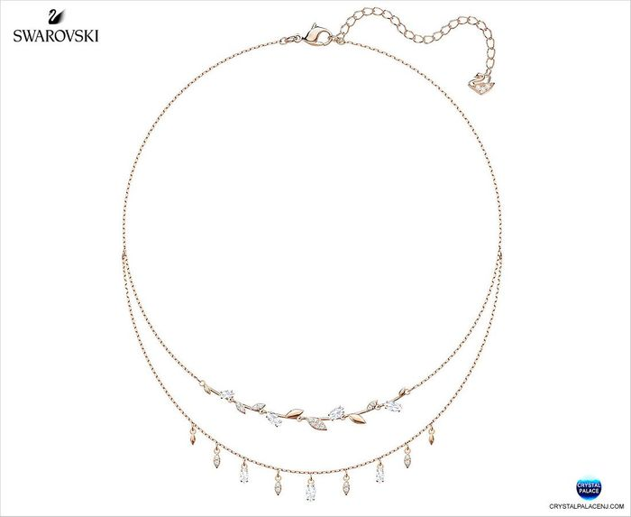 Mayfly Necklace, White, Rose gold