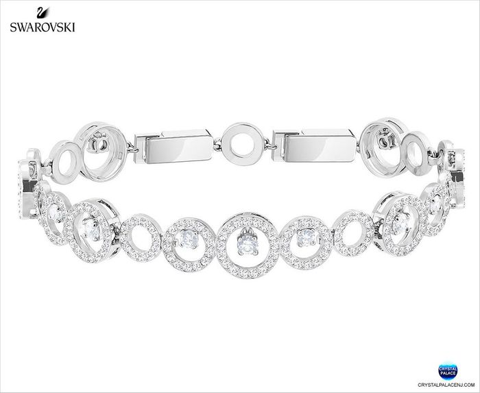 Creativity Bracelet, White, Rhodium plating