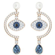 Duo Evil Eye Pierced Earrings