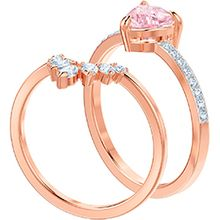(SOLD OUT) One Ring Set, Multi-colored, Rose gold