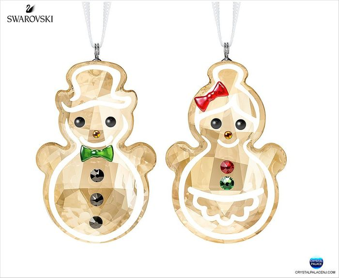 (SOLD OLD) Gingerbread Snowman Couple Ornament