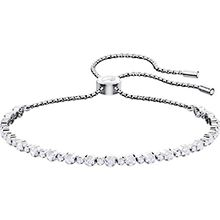 Subtle Bracelet, White, Rhodium