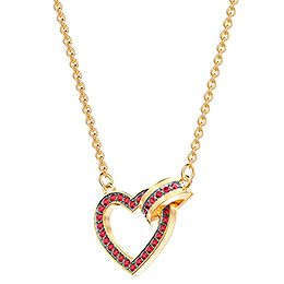 Lovely Necklace, Red, Gold