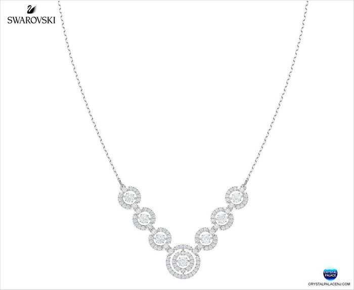 Sparkling Dance Necklace, White
