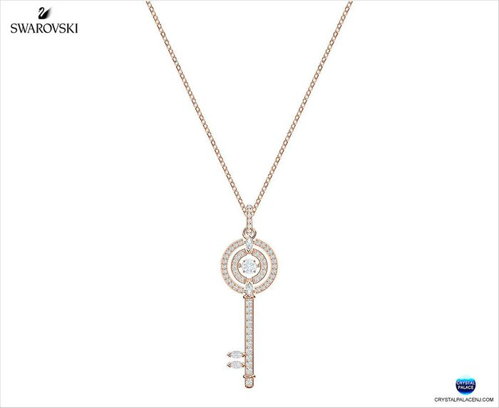 Crystal Sparkling Dance Key Necklace
