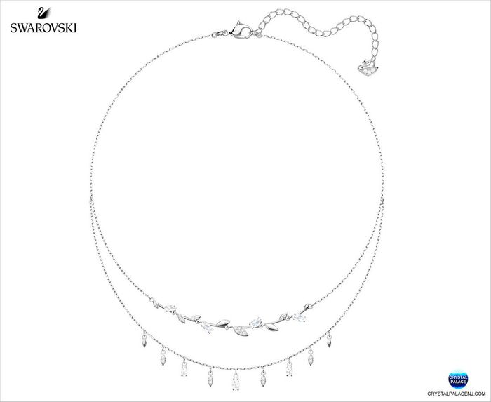 Mayfly Necklace, White, Rhodium