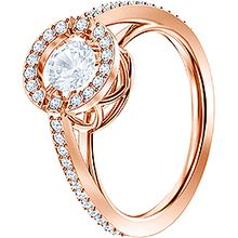 (SOLD OUT) Sparkling Dance Round Ring, Rose gold