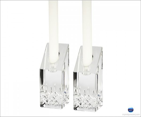 (SOLD OUT) Waterford Lismore Essence 4in Candlesticks, Pair