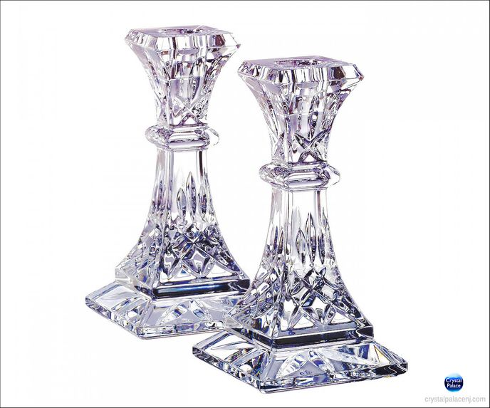 Lismore 6in Candlestick, Pair
