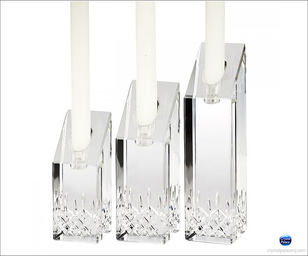 (SOLD OUT) Waterford Lismore Essence Candlesticks, Set of 3