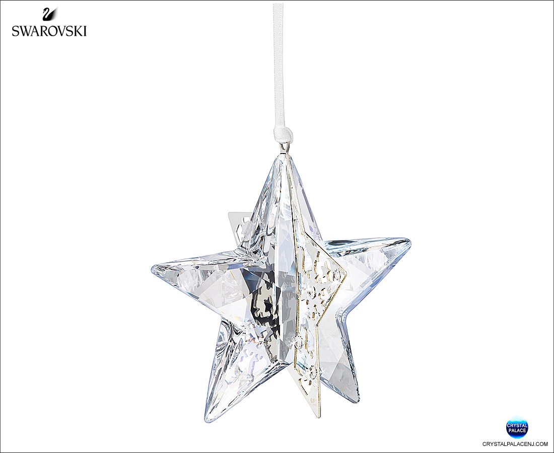 27463839e 1140007 Swarovski Christmas Ornament Star, Crystal Moonlight