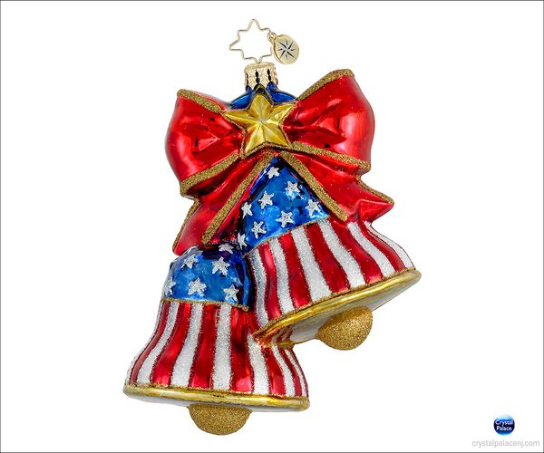 (SOLD OUT)  Let Freedom  Ring Radko Ornament