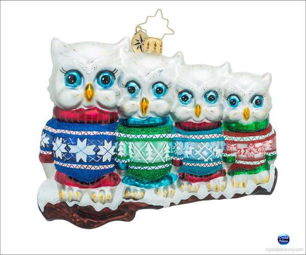 (SOLD OUT)  Owl in a Row