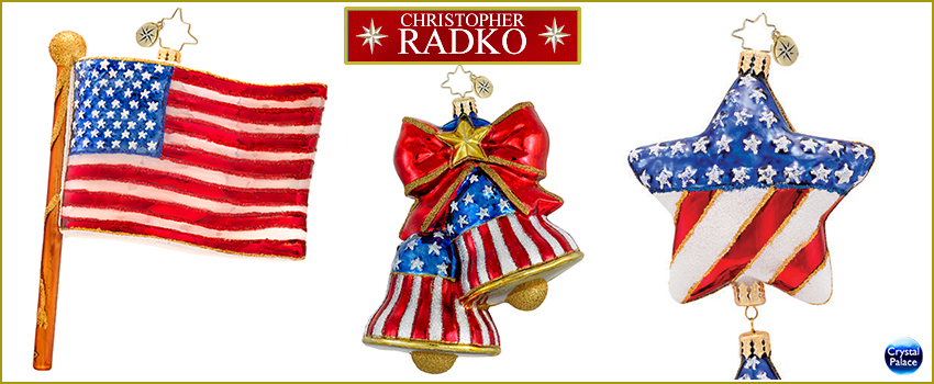 Patriotic Radko Ornaments