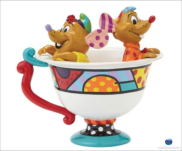 (SOLD OUT) Disney Jaq & Gus in Tea Cup Figurine