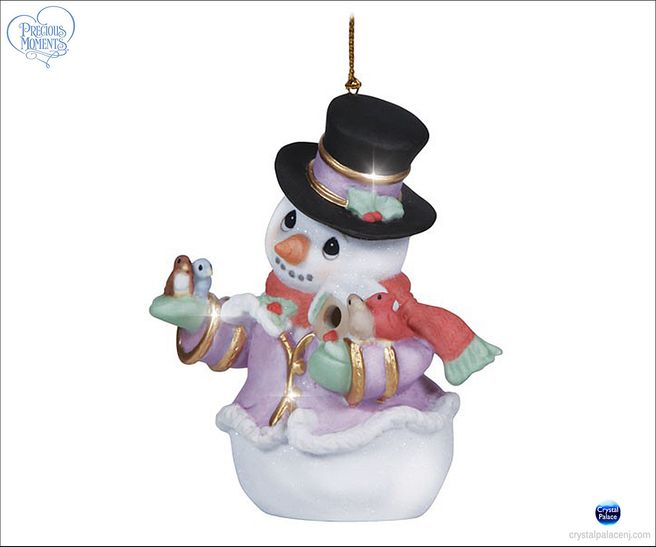 (SOLD OUT) Precious Moments Snow Place Like Home Snowman ornament