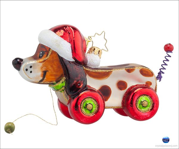 (SOLD OUT) Pullin' Pup Radko Ornament
