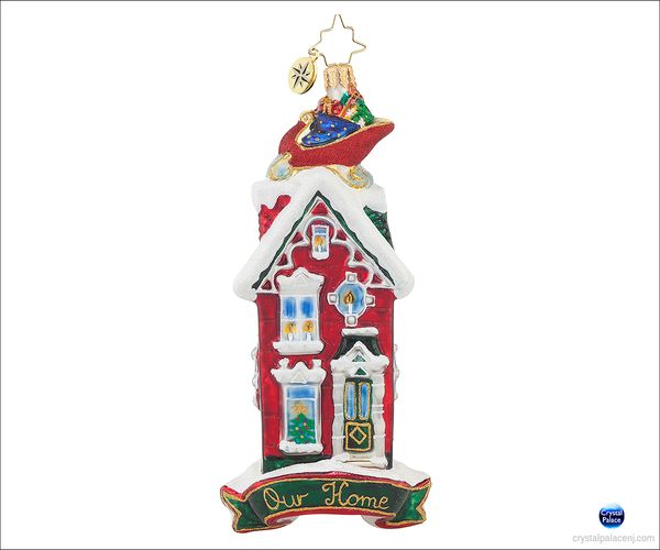 (SOLD OUT)  Rooftop Visitor Radko Ornament