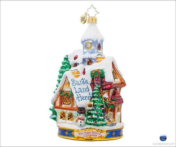 (SOLD OUT) Santa Land Here  Radko Ornament