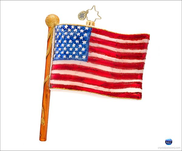 (SOLD OUT) Star Spangled  Banner Radko  Christmas Ornament