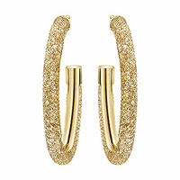 (SOLD OUT) Stardust Deluxe Hoop Pierced Earrings golden