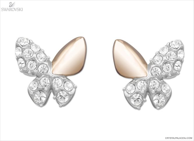 unequal in performance online shop sells Swarovski Better Butterfly Pierced Earrings