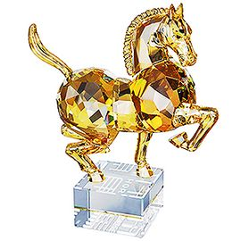 Chinese Zodiac Horse, large Golden