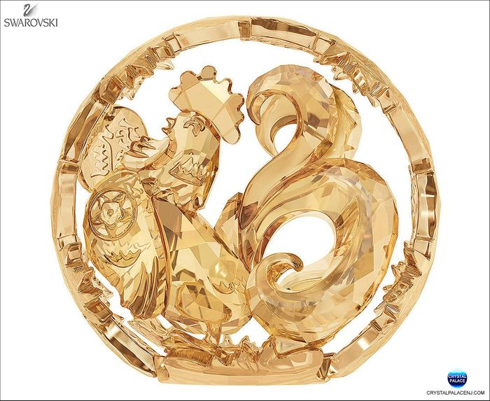 Chinese Zodiac - Rooster, Gold Tone
