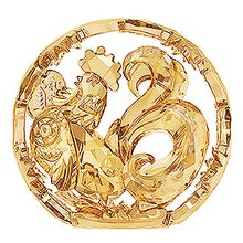 (SOLD OUT) Chinese Zodiac - Rooster, Gold Tone
