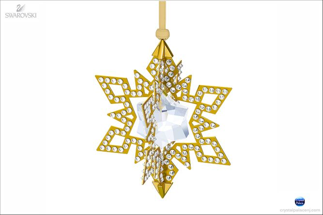 (SOLD OUT)  Christmas Ornament Star, Gold tone