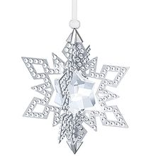 (SOLD OUT)  Christmas Ornament Star, Silver Tone