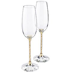 Crystalline Toasting Flutes, Golden Shadow