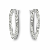 (SOLD OUT) Swarovski Summerset Hoop Pierced Earrings