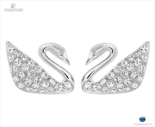 Swarovski Swan Pierced Earrings