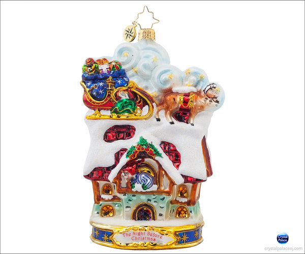 (SOLD OUT) Up to the House-Top  Radko Ornament