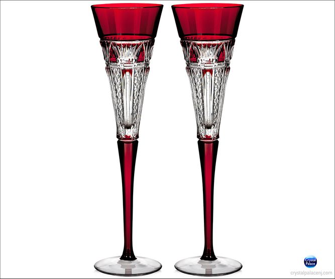 (SOLD OUT) Waterford 2015 Times Square Red Flutes, Pair