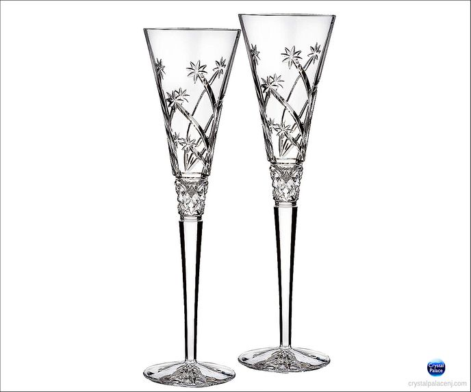 Crystal Wishes Believe Flute, Pair