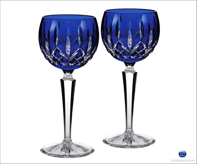 Lismore Cobalt Hock, Set of 2