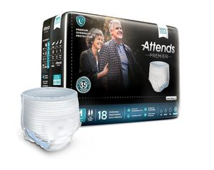 Attends Premier Incontinence Underwear, Premium Overnight Protection