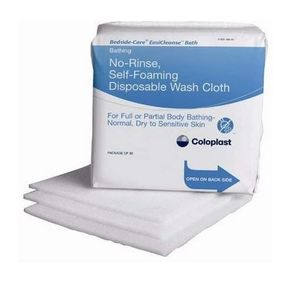 EasiCleanse Bath No-Rinse, Self-Foaming Disposable Washcloth (Pack of 30), # 7055