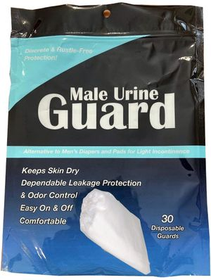 Male Urine Guard, JMP Incontinence Pouch, Bag of 30