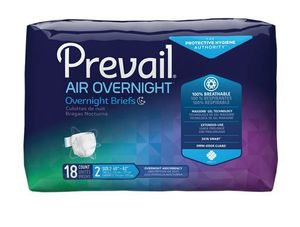 Prevail Air Overnight Adult Stretchable Briefs with Tabs