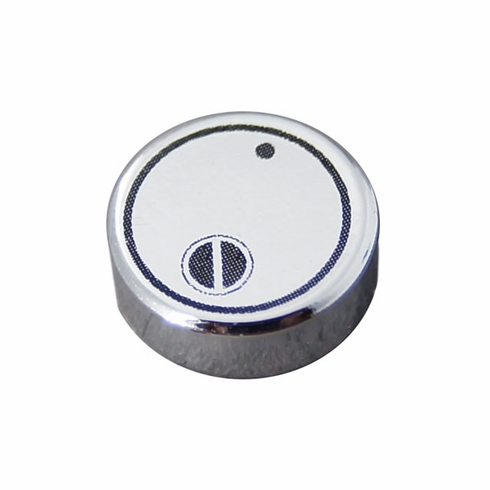 1x1 Canister Lid - Chrome Silver